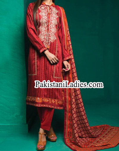 Bonanza Satrangi Winter Designs Collection 2014 2015 Prices for Women and Girls Facebook PKR 2,784.00 Red