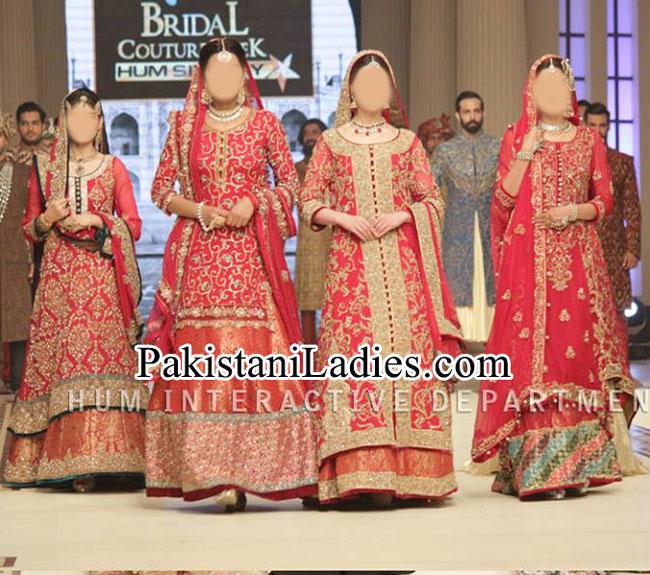 Bridal Wedding Dresses 2015 Fashion of Long Shirt Lehenga Choli Plazo Palazzo Frock Open Tail Gown Pakistan