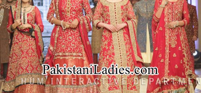 Pakistani bridal couture week 2015 dresses fashion trend for Couture meaning in urdu