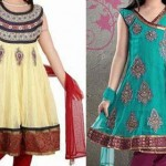 Beautiful Kids Anarkali Frocks Suits 2015 Indian Designs