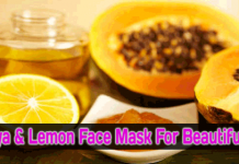 Homemade-Papaya,-Lemon-Face-Mask-For-Beautiful-Skin-Skin-Acne-&-Fairness