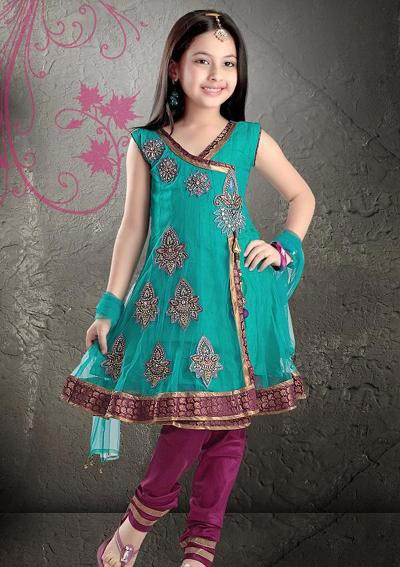Kids-Anarkali-Frocks-Suit-Designs-2015-Indian-Collection-Pakistani-Party-Wedding