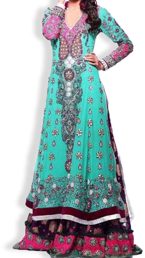 Latest Beautiful Sharara and Gharara Bridal Wedding Dress Designs 2015 Pakistan India