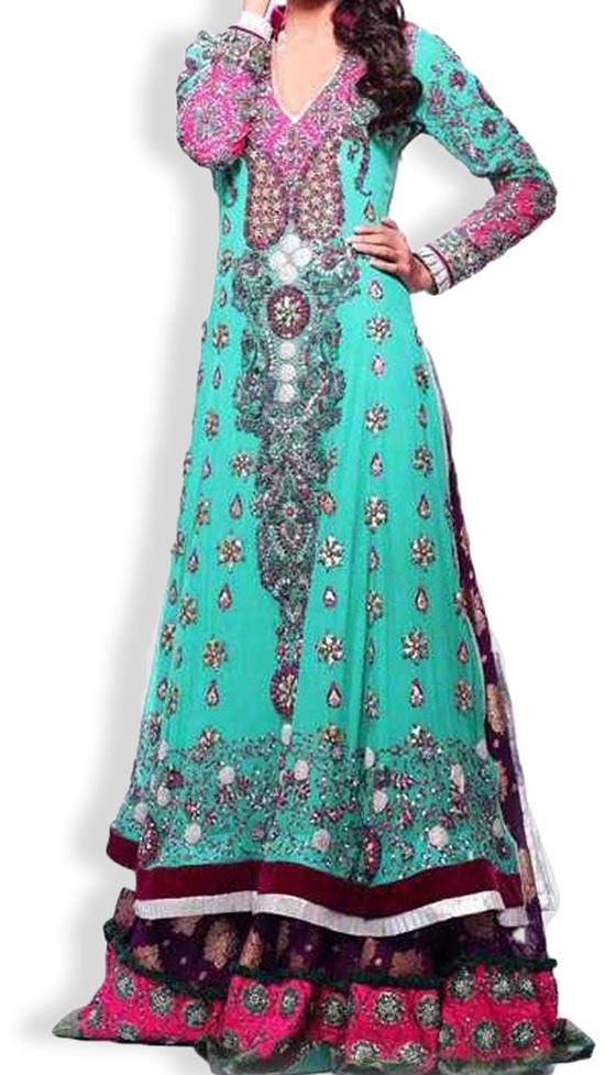 Latest Beautiful Sharara and Gharara Bridal Wedding Dress Designs 2015 Pakistan India