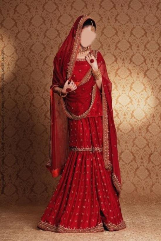 Sharara and gharara suit bridal wedding dress designs 2015 for Sharara dress for wedding online shopping