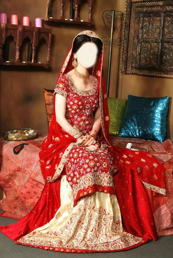 Latest Beautiful Sharara and Gharara Bridal Wedding Dress Designs 2015 Red Pakistan India