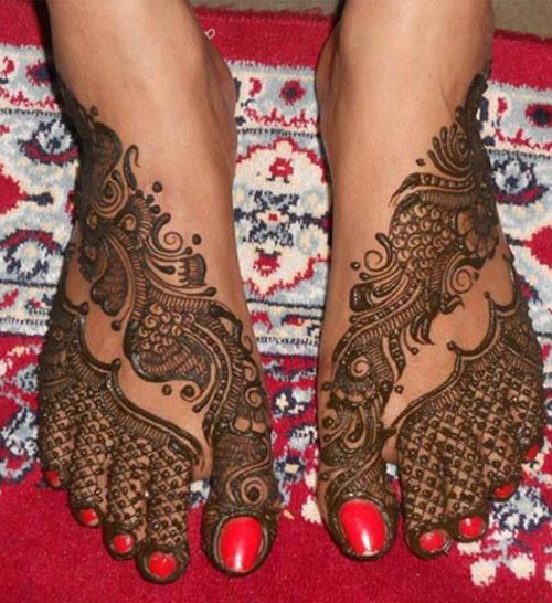 Feet Mehndi Designs Bridal : Beautiful bridal mehndi designs for feet legs