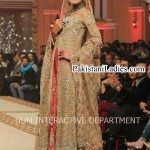 Latest Wedding Bridal Dress 2015 Long Open Shirt Frock Fashion in Pakistan