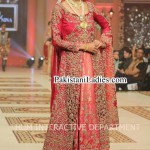 Latest Wedding Bridal Dress 2015 Long Open Shirt Frock Fashion in Pakistan Sharara