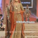 Latest Wedding Bridal Dress 2015 Long Open Shirt Frock in Pakistan