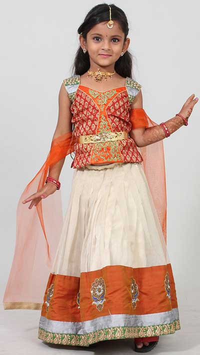Little Girls Kids Sharara Lehenga Choli 2015 Indian Designs Dress style