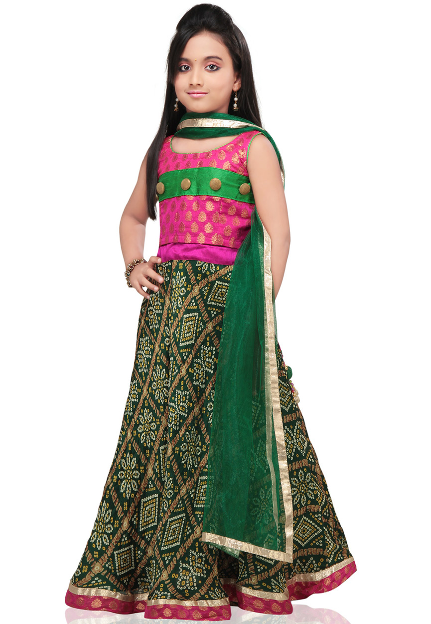 Little Girls, Kids Sharara & Lehenga Choli 2015 Indian Designs