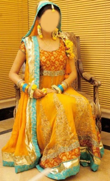 Mehndi-Mayon-Yellow-Dress-Suit-Dupata-Frock-Stylish-Designs-2015-Indian-Pakistani