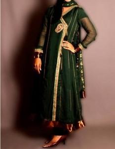 Neck Latest Fashion 2015 of Angrakha Style Anarkali Frock Suits Churidar in India Pakistan White