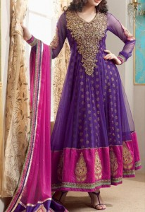 Net anarkali-umbrella-Stylish Indian Models Anarkali Frock Suits 2015 Designs for Party and Wedding