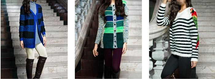 New Winter Collection Bonanza Pakistan Sweaters, Jerseys, Jackets, Jarsi 2014 2015 with Prices for Women Girls Trends