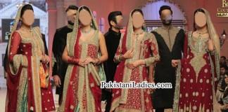 Pakistani Designer Bridal Dress Fashion 2015 Frock Long Shirts Tail Gown Lehenga Choli Plazo Palazzo Red Green