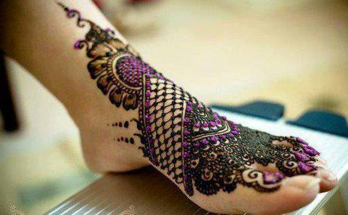 Romantic-Latest Best Fancy Beautiful Bridal Feet Mehndi Designs 2015 Indian Wedding Simple Wallpaper