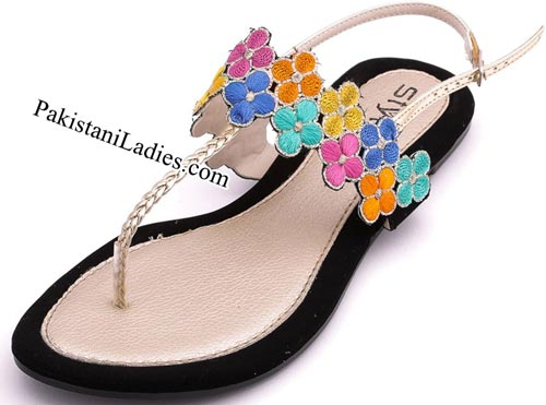 Stylo Shoes New Arrival Designs Winter Collection 2014-2015 prices Multi-Casual-Sandals-Rs-1,490