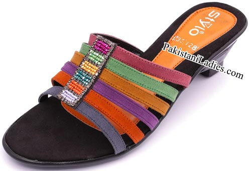 Stylo Shoes New Arrival Designs Winter Collection 2014-2015 prices Multi-Casual-Slippers-Rs-600
