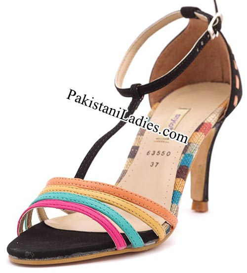 Stylo Shoes New Arrival Designs Winter Collection 2014-2015 prices Multi-Formal-Sandals-Rs-990