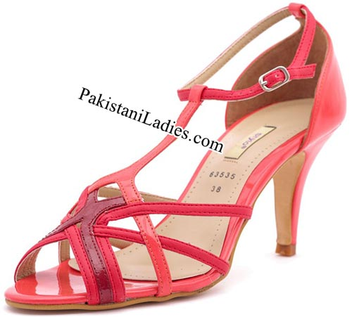 Stylo Shoes New Arrival Designs Winter Collection 2014-2015 prices Pink-Formal-Sandals-Rs-990