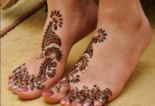 dulhan Latest Best Fancy Beautiful Bridal Feet Legs Mehndi Designs 2015 Indian Wedding Top Simple Facebook