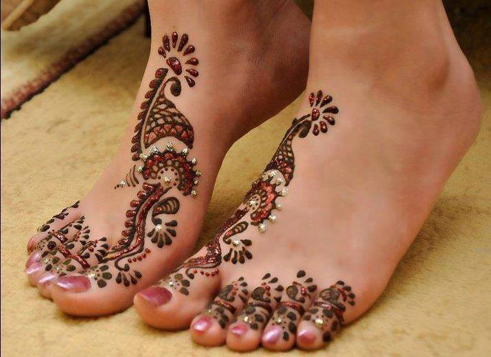 Mehndi Legs Images : Beautiful bridal mehndi designs for feet & legs 2015 wallpapers