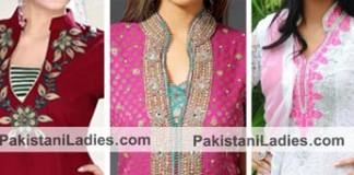 Ban Collar Neck Designs for Salwar Kameez Suit, Kurtis in India 2015 Pakistan