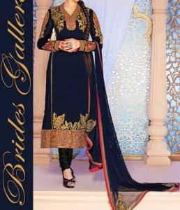 Beaiutiful Brides Galleria Party Wear Stylish Salwar Kameez Punjabi Suit Dress Designs India 2015 Green Blue