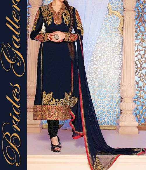 Beaiutiful Brides Galleria Party Wear Stylish Salwar Kameez Punjabi Suit Dress Designs India 2015 Green Blue