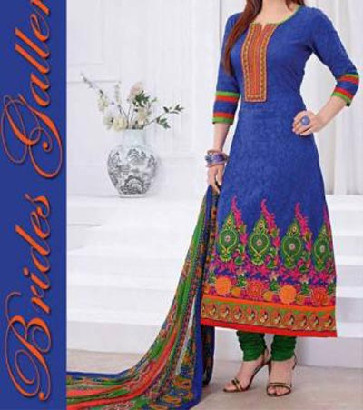 Beaiutiful Brides Galleria Party Wear Stylish Salwar Kameez Punjabi Suit Dress India 2015 Blue Designs