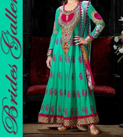 Beaiutiful Brides Galleria Party Wear Stylish Salwar Kameez Punjabi Suit Dress India 2015 Green