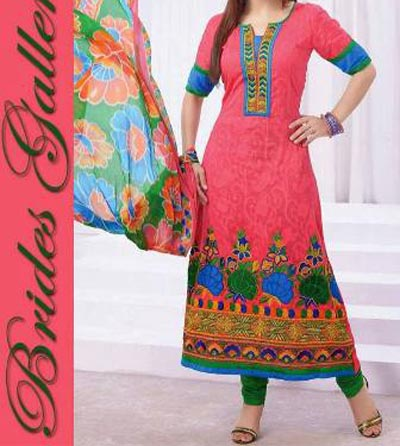 Beaiutiful Brides Galleria Party Wear Stylish Salwar Kameez Punjabi Suit Dress India 2015 Pink Designs