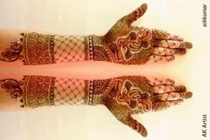 Beautiful Bridal Dulhan Henna Mehndi Designs 2015 for Full Hands Wedding Eid Party Indian