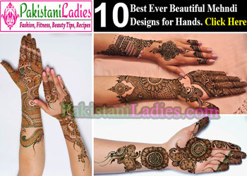 Beautiful Bridal Dulhan Mehndi Designs for Hands 2015 Indian