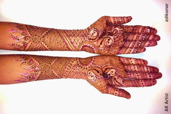 Bridal Mehndi Designs 2015 for Front Hands