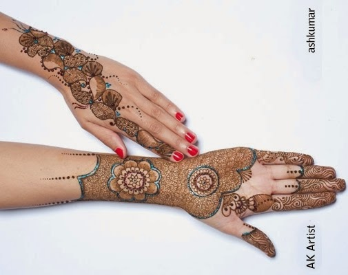 Beautiful Bridal Henna Mehndi Designs 2015 for Full Hands Wedding Eid Party Indian Arms