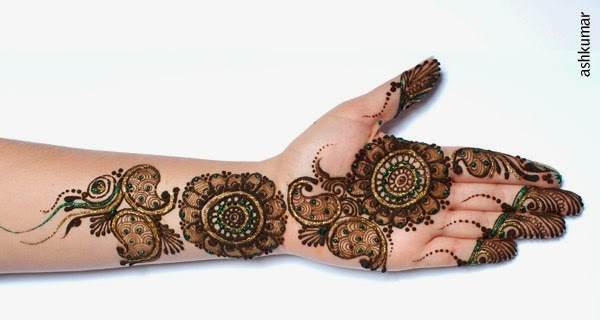 Beautiful Bridal Henna Mehndi Designs 2015 for Full Hands Wedding Eid Party