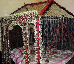 Beautiful Bridal Wedding Room Decoration Masehri Designs With Flowers Idea Pics Pakistan India