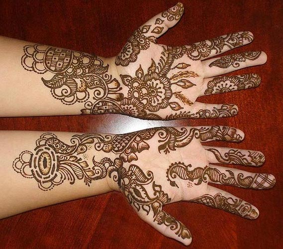 Beautiful Omani Henna Designs for Hands, Muscat Mehndi Facebook Pics 2015
