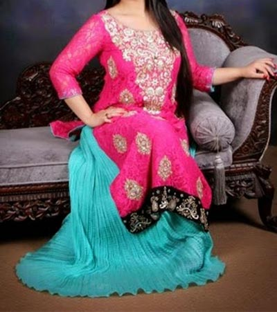Beautiful Plus Size Healthy Women over weight Fat Ladies Suit Pakistani Indian Dresses Plazo