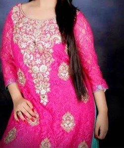 Beautiful Plus Size Healthy Women over weight Fat Suit Ladies Pakistani Indian Dresses
