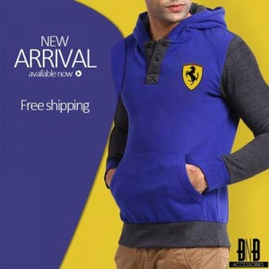 Blue Black Men Boys Hoodies Winter 2015 Stylish New Arrival Zip Up Pull Over Prices Pakistan