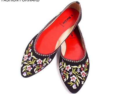 Borjan Shoes New Arrival Pumps Winter Collection 2014 Price 2015 Designs Footwear Black Fancy