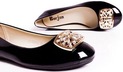 Borjan Shoes New Arrival Pumps Winter Collection 2014 Price 2015 Designs Footwear Black Sale