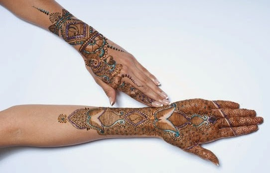 Bridal Henna Mehndi Designs 2015 for Full Hands Wedding Eid Party Indian