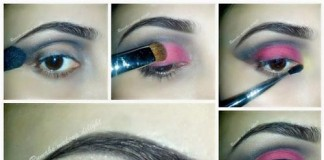 Bridal Tutorial of Smokey 2015 Eyes Black Smoky Makeup Pink India Pakistan