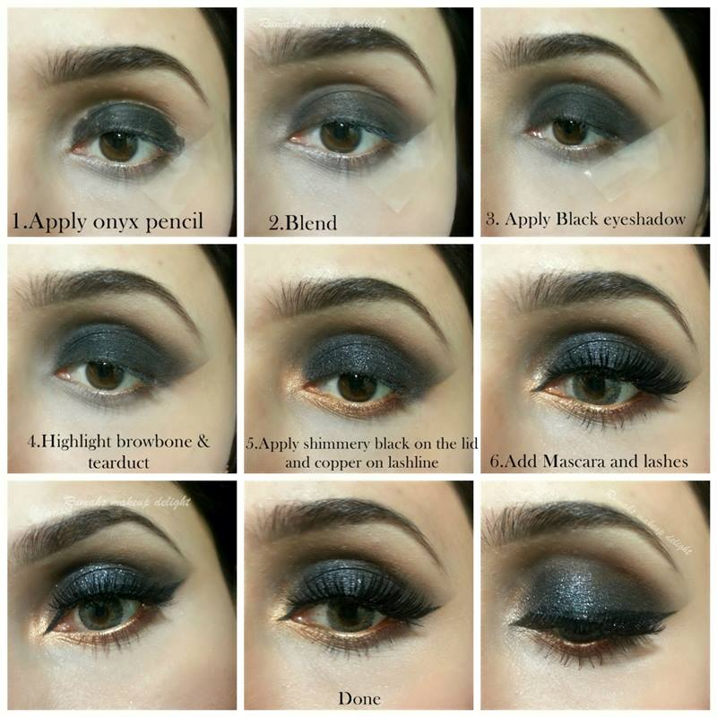 Bridal Tutorial of Smokey 2015 Eyes Black Smoky  Makeup