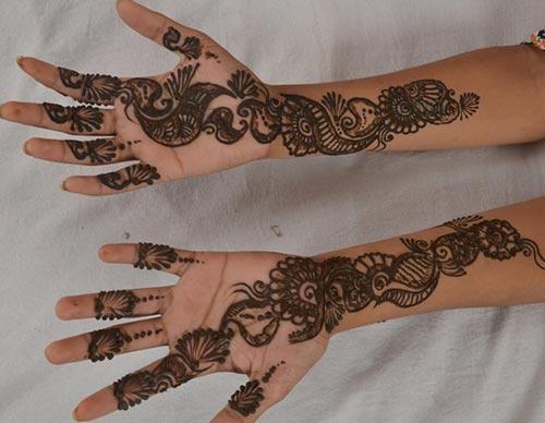 rajasthani bombay delhi mehndi designs for bridal hands 2015